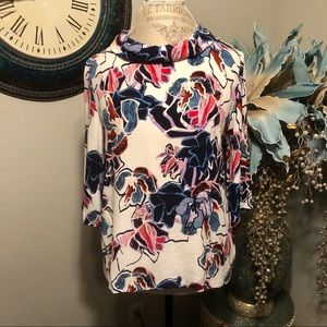 Halogen 3/4 sleeve blouse Size Large